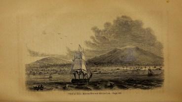 View_of_Hilo,_Mauna_Kea_and_Mauna_Loa-Bingham-in_the_1820s
