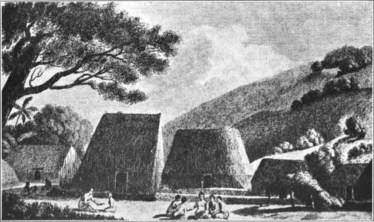 View_of_Houses_at_Kealakekua,_William_Ellis-1779