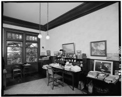 WILCOX'S OFFICE, LOOKING NORTHWEST FROM DOOR TO LIVING ROOM-LOC