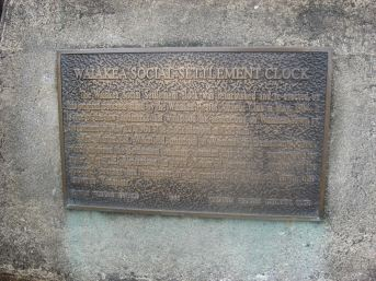 Waiakea Social Settlement Clock plaque