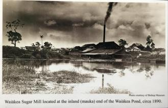 Waiakea Sugar Mill at Waiakea Pond-1890