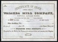 WaiakeaMillStockCertificate