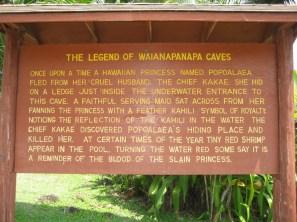 Waianapanapa Cave-sign