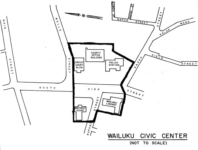 Wailuku Civic Center Historic District-Map