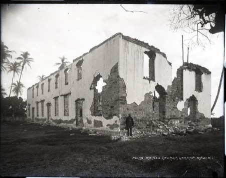 Wainee_Church-1893-after-fire
