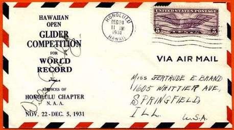 William A. Cocke-World Gliding envelope