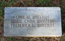 Winstedt grave marker-Oahu Cemetery