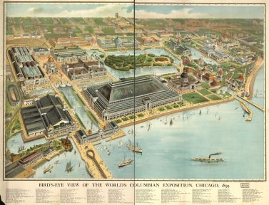 World's Columbian Exhibition, Chicago, Map-1893