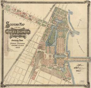World's Columbian Exhibition, Chicago, Map 1893