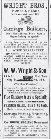 Wright Bros-WW Wright and Son-Evening Bulletin, Sep_8,_1890s