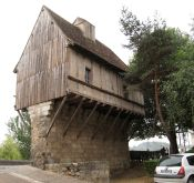 old toll house by the river in Perigueux France