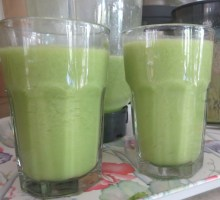 this juice has been whizzed with avocado