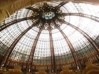 famous skylight at Galeries Lafayette, Paris
