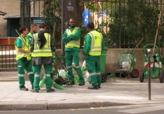 street cleaners, Paris