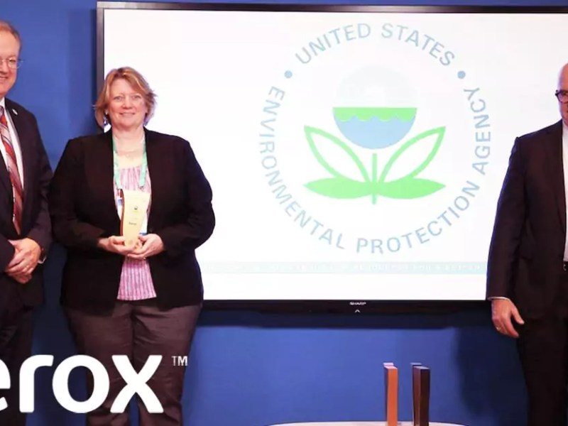 Xerox Accepts a Gold Tier Award for Sustainability