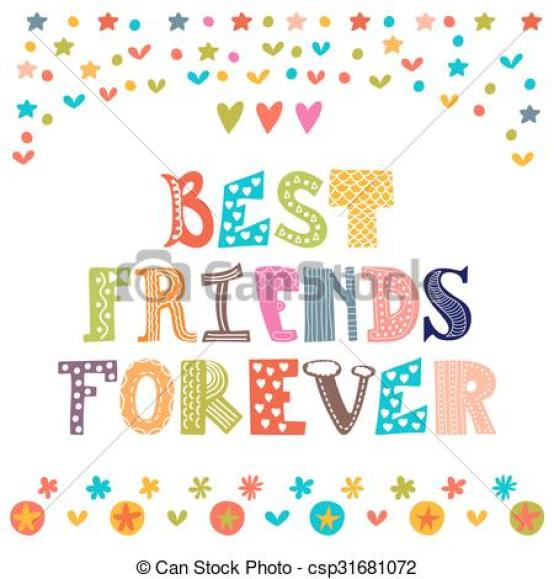 Best-Friends-Forever-Colorful-Greeting-Card