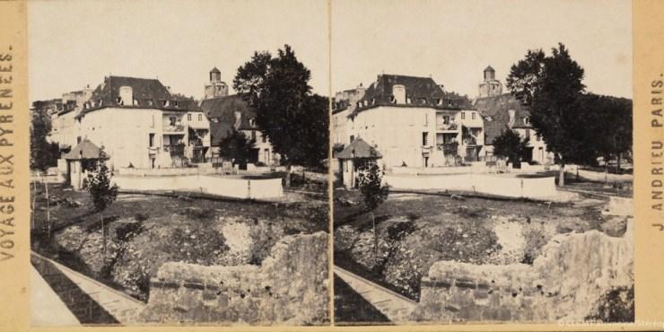 Images stéréoscopiques Jean Andrieu Voyage aux Pyrénées Nay