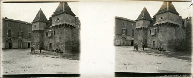 Images stéréoscopiques plaque de verre Cahors