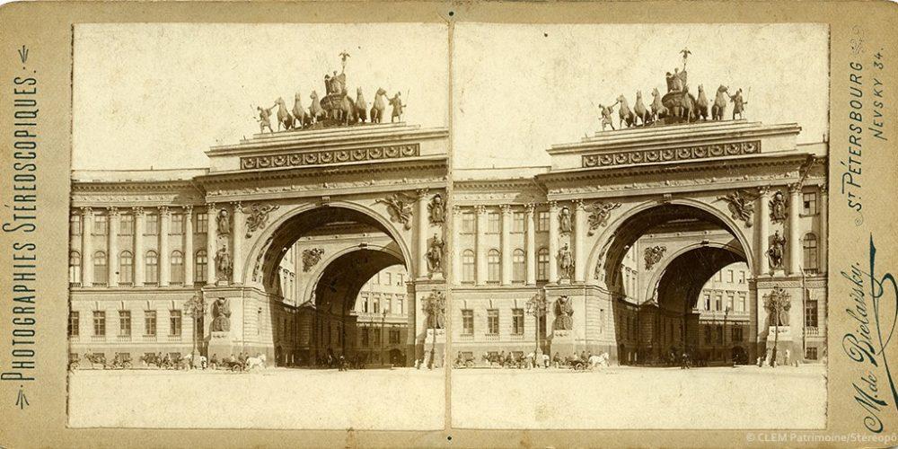 Images stéréoscopiques  Bielavsky Saint-Petersbourg