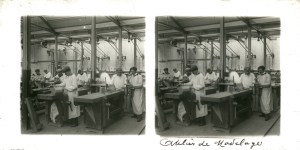 Images stéréoscopiques plaque de verre De Dion-Bouton usine