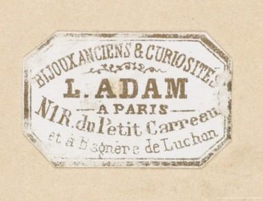 Ancient jewelry and curiosities L. Adam Paris Bagnères
