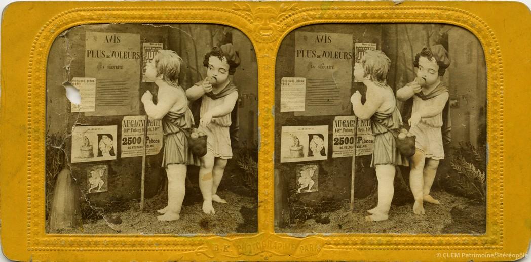 images stéréoscopiques Adolphe Block Arts et métiers enfantins