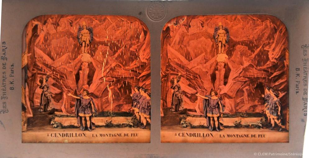 images stéréoscopiques Adolphe Block Les théâtres de Paris Cendrillon