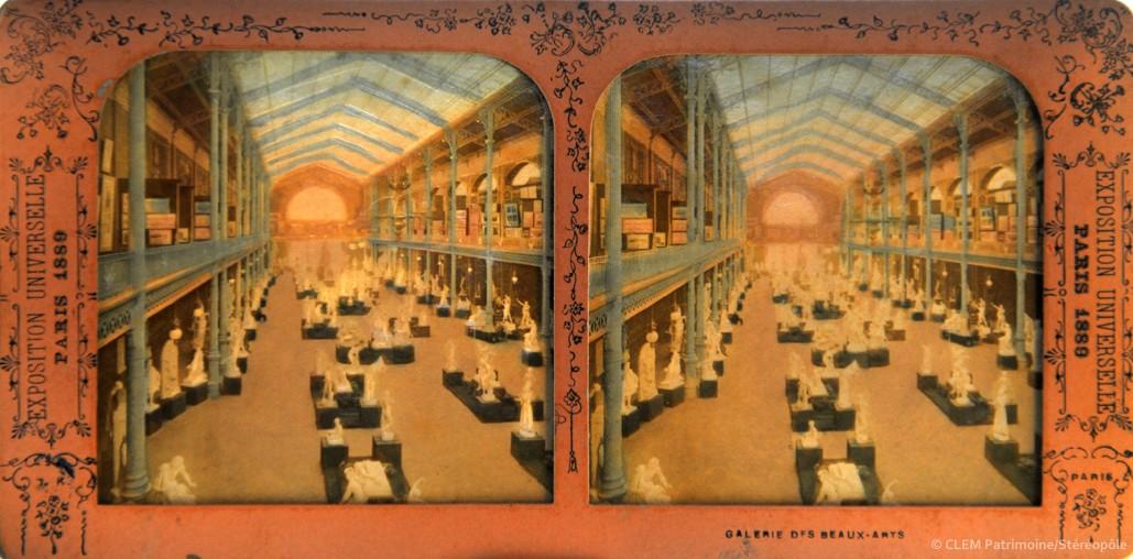 images stéréoscopiques Adolphe Block Exposition Universelle 1889