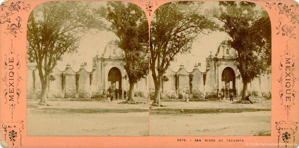 Images stéréoscopiques Mexique Adolphe Block San Diego de Tacubaya