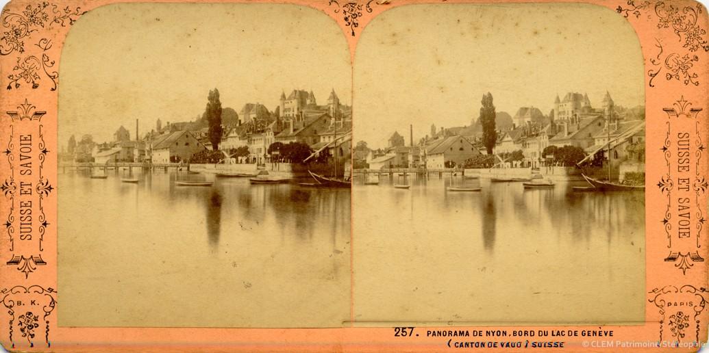 Images stéréoscopiques Nyon Adolphe Block Suisse et Savoie Jean Andrieu