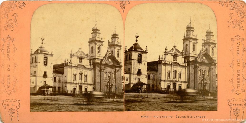 Images stéréoscopiques Adolphe Block Série Vues du Brésil Rio Janeiro