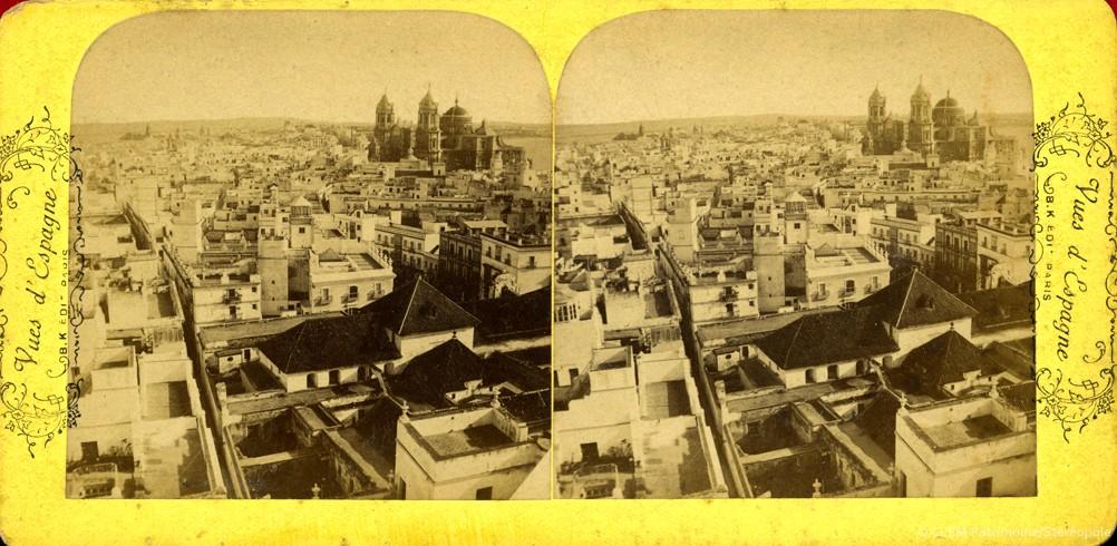 Images stéréoscopiques Vues d'Espagne Adolphe Block Cadix
