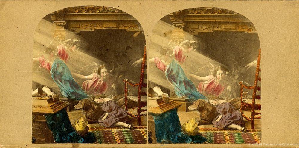 images stéréoscopiques James Elliott Rêve d'enfant The Orphan's Dream