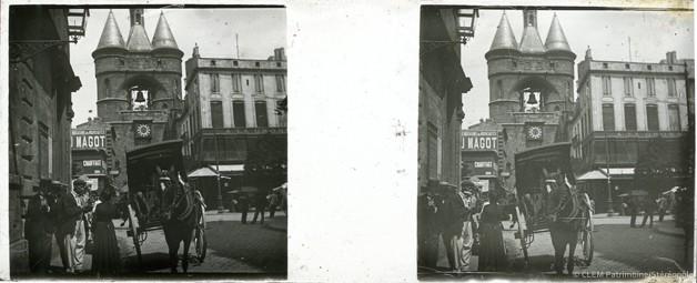 Images stéréoscopiques plaque de verre Bordeaux Grosse Cloche