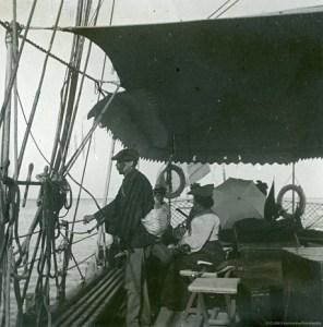 Images stéréoscopiques plaque de verre Arcachon Courrier du Cap