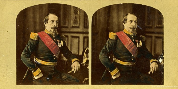 Images stéréoscopiques Napoléon III 1858 Alexis Gaudin Louis Mayer Pierre-Louis Pierson