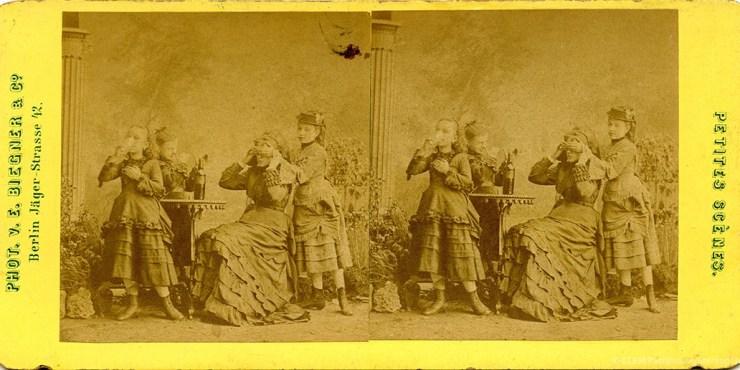 Images stéréoscopiques Biegner & Co. petites scènes