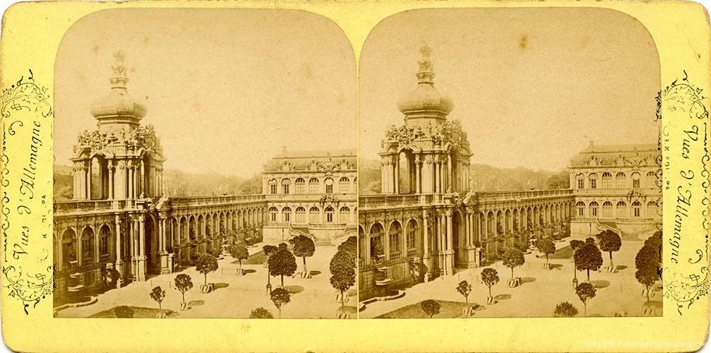 Images stéréoscopiques Vues d'Allemagne Adolphe Block Dresde