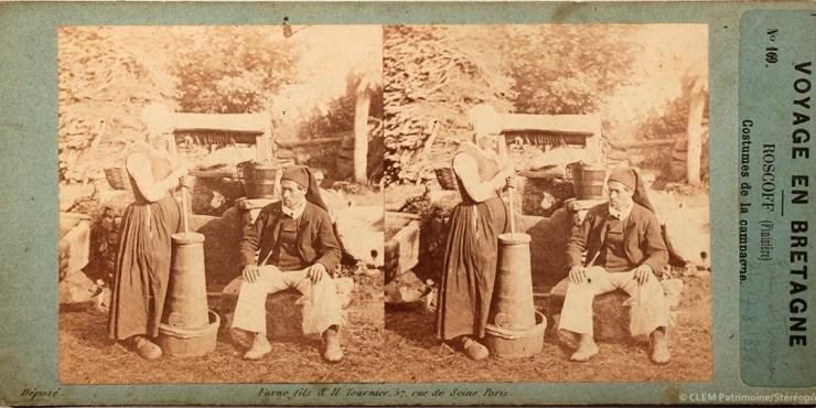 Images stéréoscopiques Furne et Tournier Voyage en Bretagne Roscoff