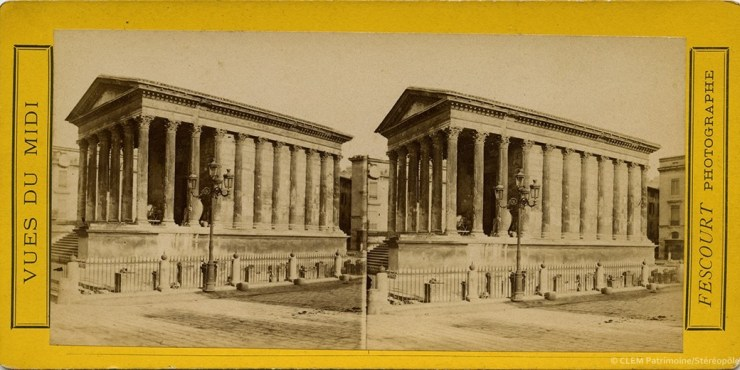 Images stéréoscopiques Fescourt Félix Nîmes Maison Carrée