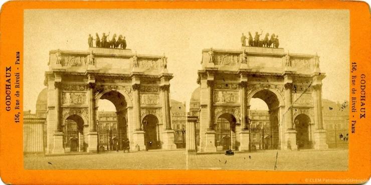 Images stéréoscopiques Godchaux Paris Arc de Triomphe