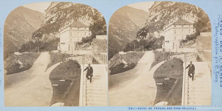 Images stéréoscopiques Lamy Ernest Eaux-Bonnes 1868