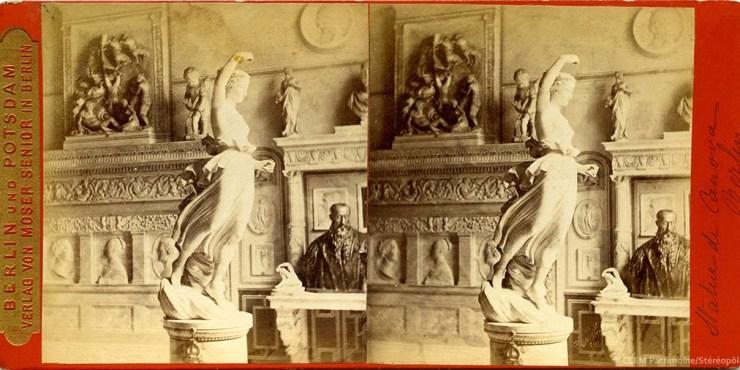 Images stéréoscopiques Moser Senior Berlin Stattmuseen Canova
