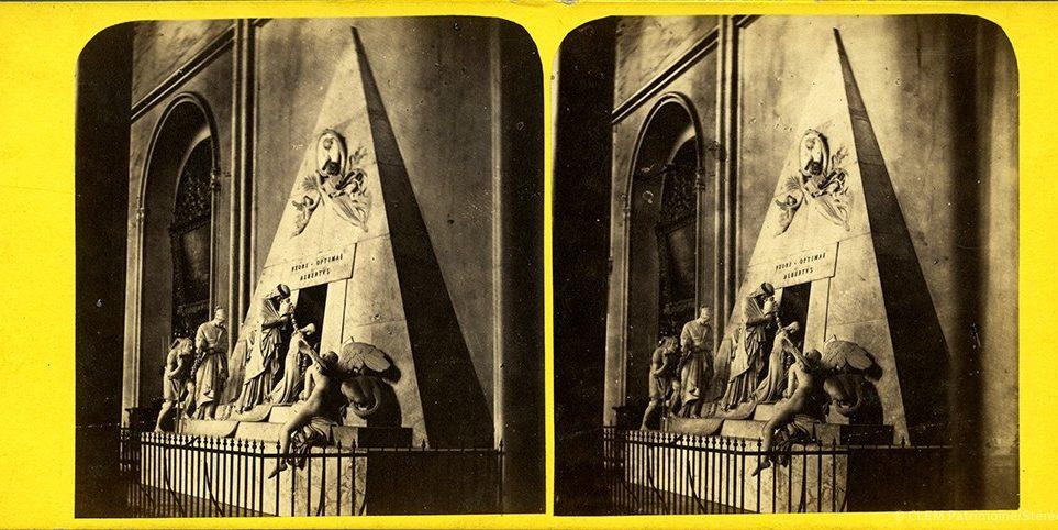 Images stéréoscopiques Steuer Josef Carl Vienne cénotaphe