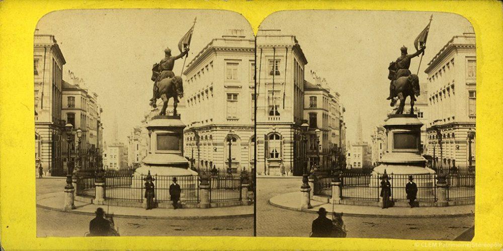 Images stéréoscopiques Turgard Barthélémy Bruxelles Place Royale