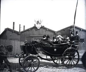 Images stéréoscopiques Bordeaux, Emile Loubet avril 1905 plaque de verre