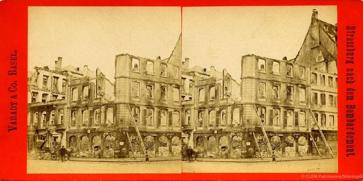 Images stéréoscopiques Vadary & Co. Basel Strasbourg 1870