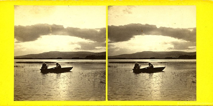 Images stéréoscopiques Washington Wilson George Loch of Park Aberdeeshire 281