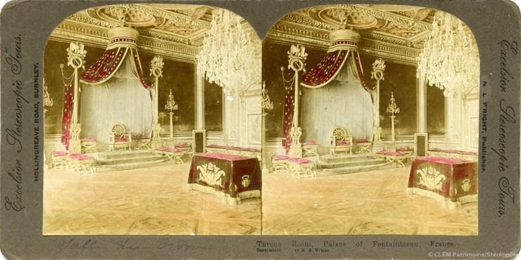 Images stéréoscopiques Wright M. E. Excelsior Stereoscopic Tours Fontainebleau