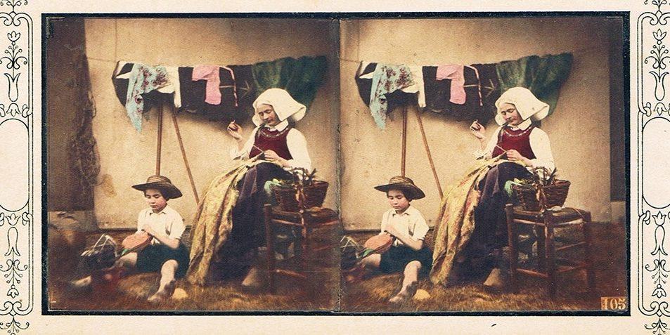 Images stereoscopiques Louis-Camille d'Olivier Scènes composées